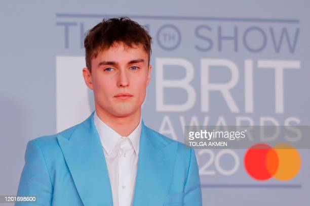 British singersongwriter Sam Fender poses on the red carpet on arrival for the BRIT Awards 2020 in London on February 18 2020 / RESTRICTED TO...