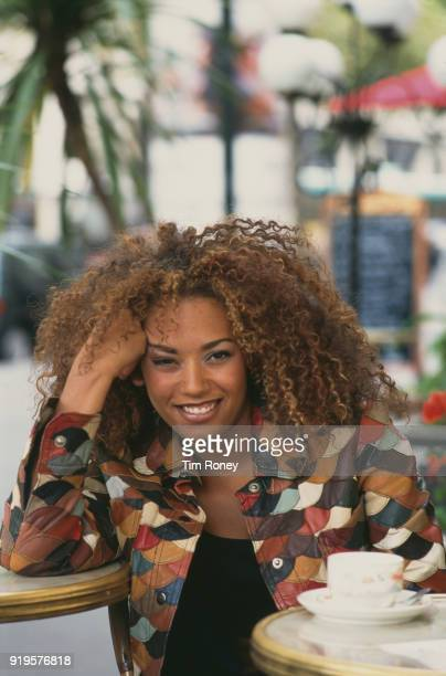 British singer-songwriter, television presenter and actress Melanie Brown, Mel B, of girl group the Spice Girls, Paris, 1996.