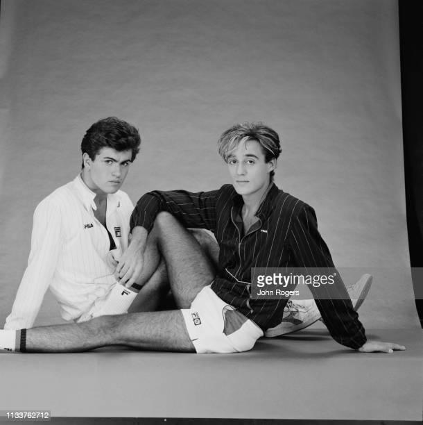 British singersongwriters George Michael and Andrew Ridgeley of pop duo Wham UK 8th November 1983