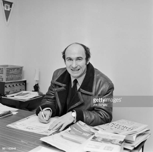 British soccer player and manager of Aldershot FC Jimmy Melia selecting his team for a match against Liverpool FC UK 31st December 1970