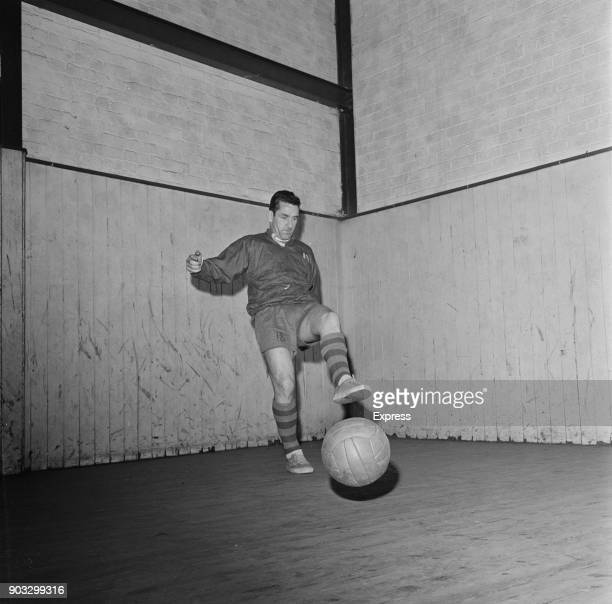 British soccer player Dave Mackay of Derby County FC training indoors UK 23rd October 1968