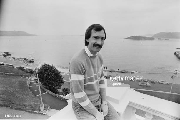British soccer player Gordon Nisbet of Plymouth Argyle FC at Plymouth Hoe UK 5th April 1984