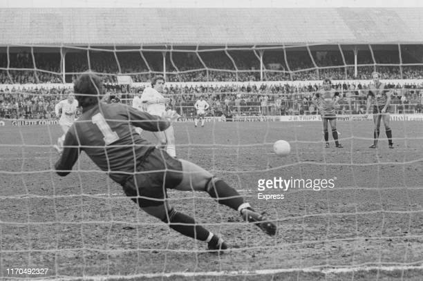 British soccer player Mark Falco of Tottenham Hotspur FC take a penalty during a match against Stoke City FC at White Hart Lane London UK 3rd March...