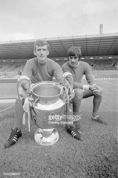 British soccer players Alex Stepney and George Best of Manchester United FC UK 1st August 1968