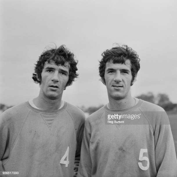 British soccer players and twin brothers Ian and Roger Morgan of Queens Park Rangers FC UK 31st October 1968