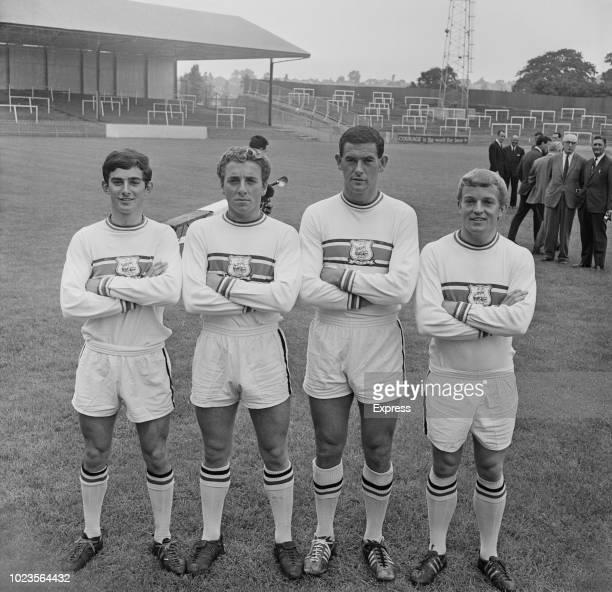 British soccer players David Corbett Norman Piper John Hore Norman Sykes of Plymouth Argyle FC UK 12th August 1965