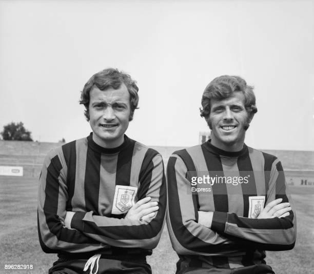 British soccer players John Benson and Mel Machin of AFC Bournemouth UK 3rd August 1971