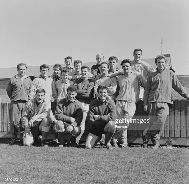 British soccer players of Coventry City FC pose for a group shot UK 30th March 1963