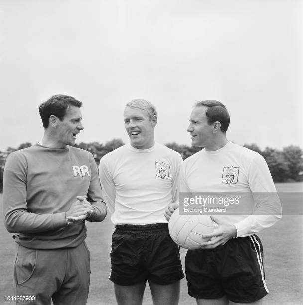 British soccer players of Fulham FC Bobby Robson , George Cohen, and Frank Large, UK, 23rd July 1968.
