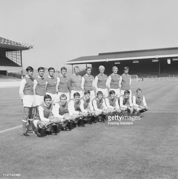 British soccer team Arsenal FC, group photo, at Highbury Stadium, London, UK, 9th August 1969.