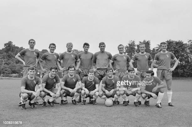 British soccer team Chelsea FC group photo UK 24th July 1964