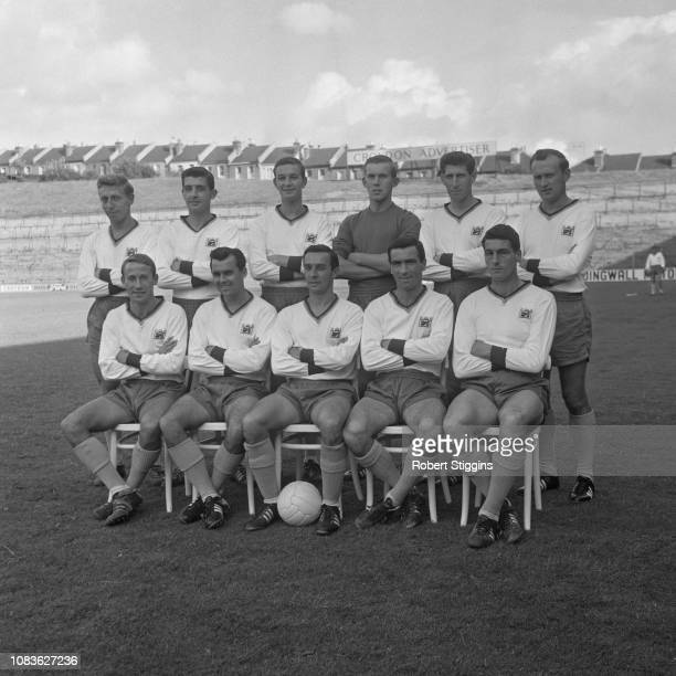 British soccer team Crystal Palace FC, group photo, London, UK, 21st August 1963.
