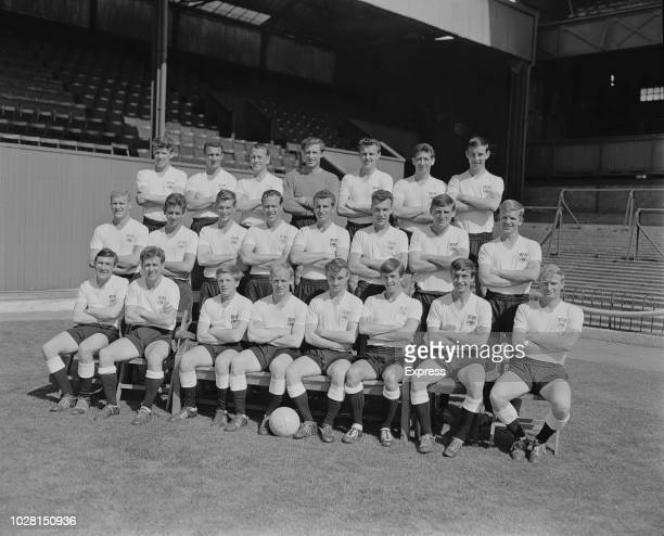 British soccer team Derby County FC group photo UK 14th August 1964