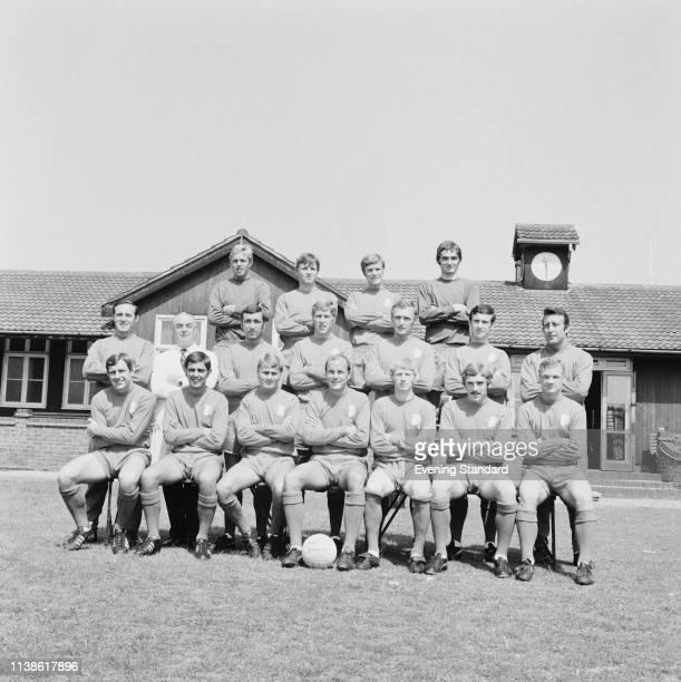 British soccer team Leyton Orient FC group photo London UK 29th July 1969