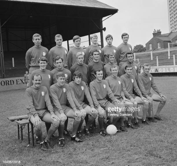British soccer team Leyton Orient FC group photo UK 5th August 1968
