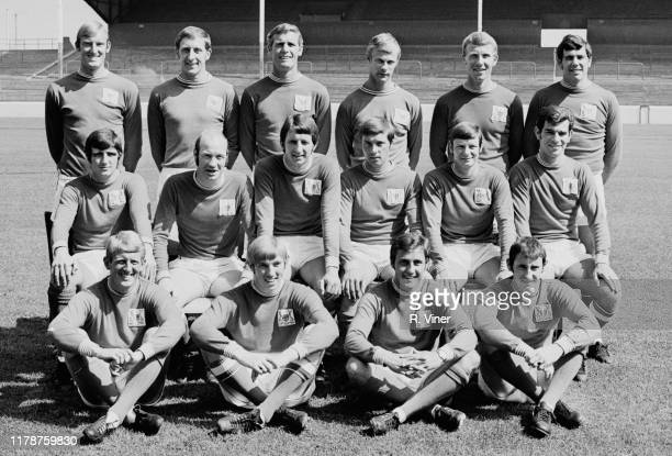 British soccer team Nottingham Forest Football Club group photo UK 16th September 1969