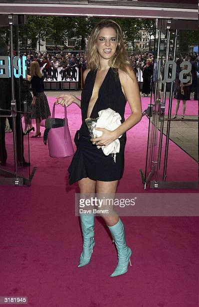 British socialite Alexandra Aitken arrives at the UK premiere of the film Charlie's Angels 2 Full Throttle at the Odeon Cinema Leicester Square on...