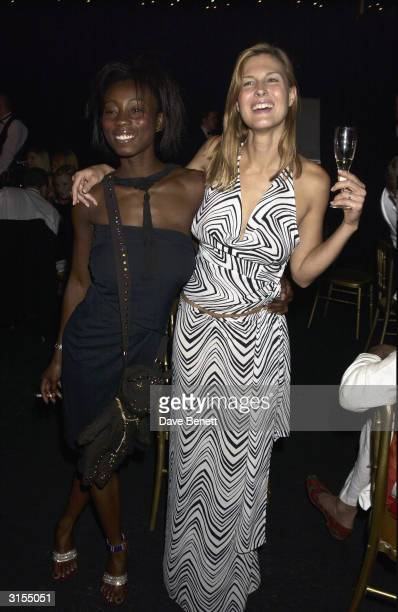British socialite Julienne Davis attends the La Dolce Vita party in aid of the Cantor Fitzgerald Fund held at Stowe School on July 20 2003 in London