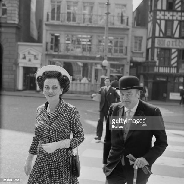 British socialite Margaret Campbell Duchess of Argyll pictured outside the Royal Courts of Justice in The Strand London on 4th May 1972 Margaret...