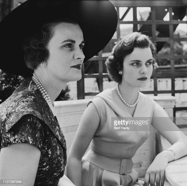 British socialite Margaret Campbell, Duchess of Argyll , with her daughter Frances Helen Sweeney, UK, 6th August 1955. Original Publication: Picture...