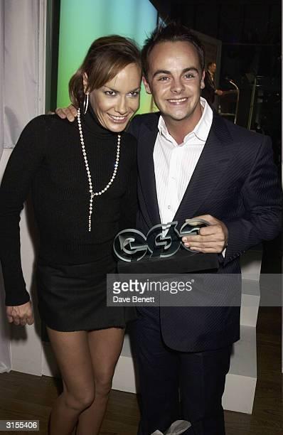 British socialite Tara PalmerTomkinson and British television presenter Ant McPartlin attend the GQ Magazine Men of the Year Awards held at the...