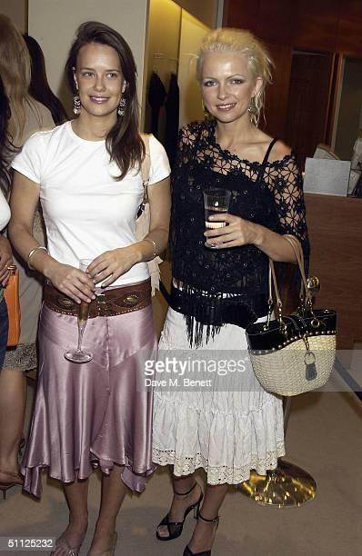 British Socialites Arabella Musgrave and Hannah Standing attend designer Loris Azzaro's party at Harvey Nichols' first floor international department...