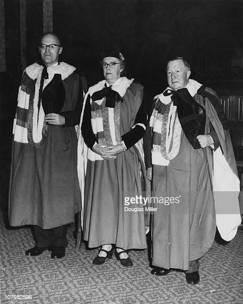 British sociologist and newlyappointed life peer Barbara Wootton is introduced at a special sitting of the House of Lords London 21st October 1958...