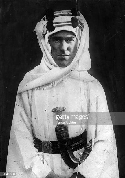British soldier adventurer and author Thomas Edward Lawrence known as Lawrence Of Arabia He joined the Arab revolt against the Ottoman Empire during...