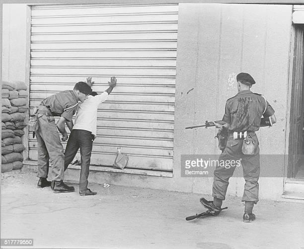British Soldier Frisking Man During Aden Unrest