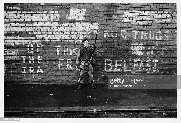 British Soldier In Belfast