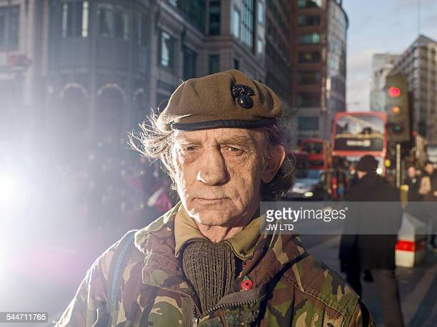 British soldier looking to camera