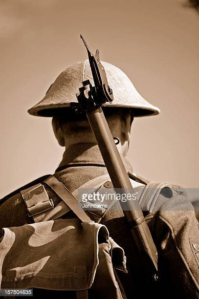 ww1 british soldier. - world war i stock photos and pictures