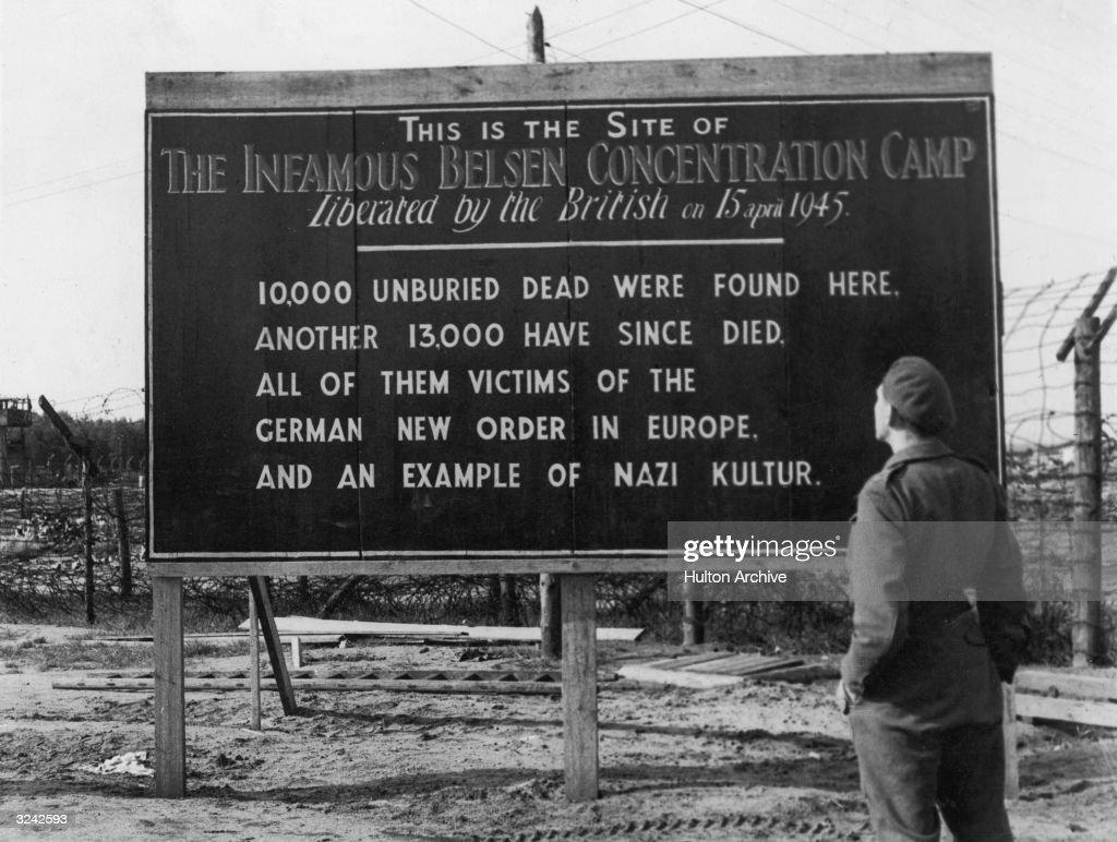 Belsen Notice : News Photo