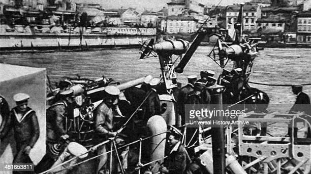 British soldiers arrive in Pola 1917 an Austrian Naval Base in World War One..