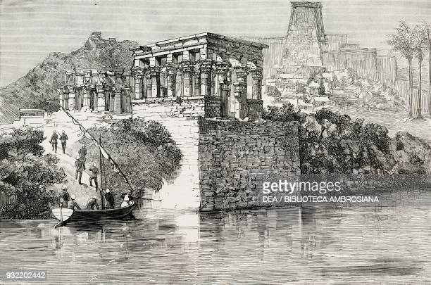 British soldiers at Philae the British Nile Expedition for the relief of General Charles George Gordon Egypt Mahdist War illustration from the...
