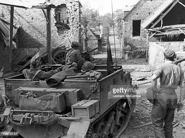 British soldiers in Normandy during World War II 9th September 1944 Original Publication Picture Post 1797 The Road To Victory pub 1944