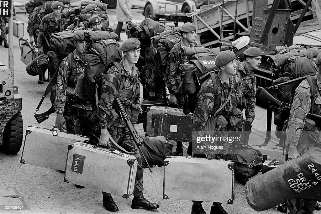 The Falklands War : News Photo