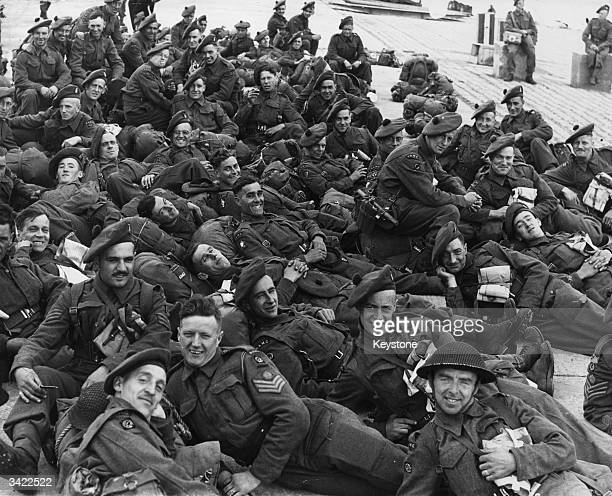 British soldiers of the RAMC during the Normandy Landings June 1944