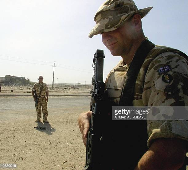 British soldiers patrolling in the southern city of Basra 29 July 2003 Basra Iraq's once great southern port is under British military administration...