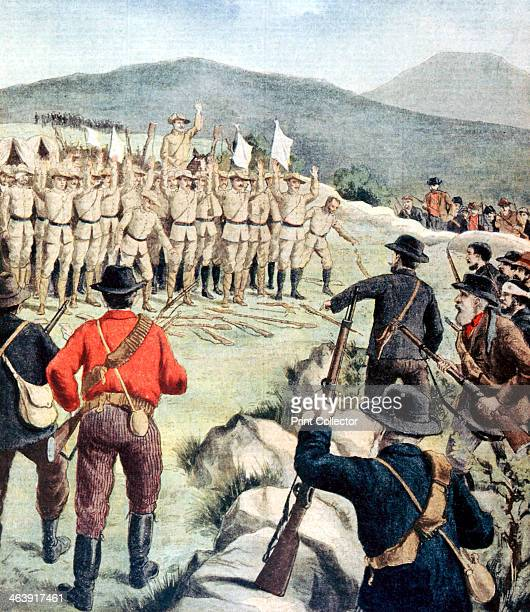 British soldiers surrendering to Boer forces at Doornbosch Transvaal South Africa 1901 From Le Petit Journal Paris 8 December 1901