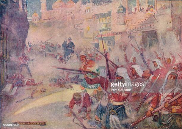 British Soldiers Were Seen Fighting Their Way Through The Streets' from 'Our Empire Story' by HE Marshall c1920 The Siege of Lucknow occurred during...