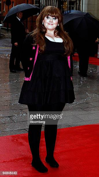 British solo artist Adele arrives at the Nationwide Mercury Prize awards at Grosvenor House Hotel in London UK on Tuesday Sept 9 2008 Previously...