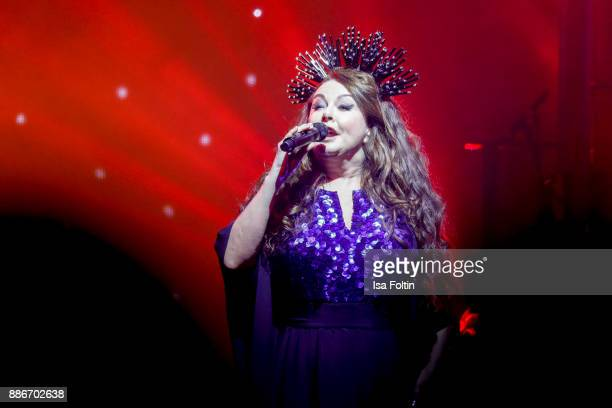 British soprano Sarah Brightman performs live on stage during the Royal Christmas Gala at Tempodrom on December 5 2017 in Berlin Germany