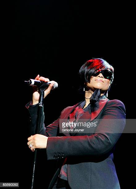 British soul singer Gabrielle performs live on stage at the Hammersmith Apollo on November 6 2008 in London England