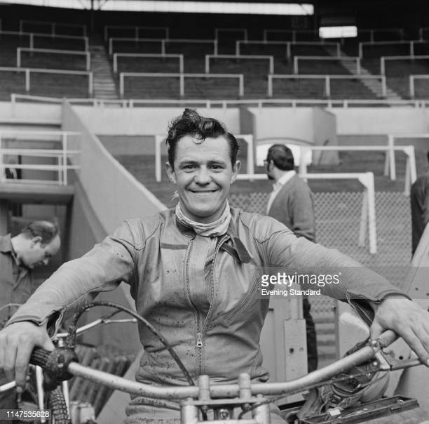 British speedway rider Nigel Boocock , team Coventry Bees, at Belle Vue Stadium, Manchester, UK, 22nd September 1969.
