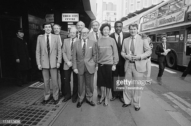 British sports personalities Sebastian Coe David Coleman David Hemery Frank Bruno and Bobby Robson amongst others 11th January 1984