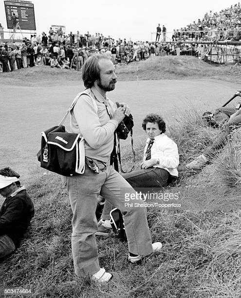 British sports photographers Phil Sheldon and Tommy Hindley pictured during the British Open Golf Championship at Royal St George's in Sandwich 18th...