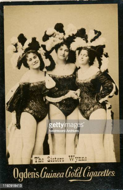 British stage actresses the Wynne Sisters depicted on collectible tobacco card from circa 18941907 Ogden's Guinea Gold Cigarettes from England In the...
