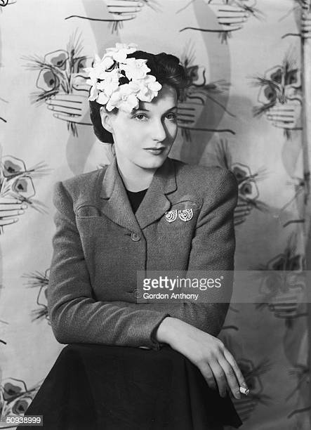 British stage and screen actress Judy Campbell , circa 1948.