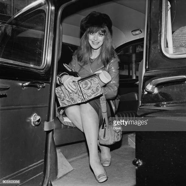 british stage and television actress Fenella Fielding at Heathrow Airport London UK 23rd September 1968